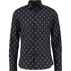 Koszule męskie na spinki: Noose & Monkey SCULL TOOLE Koszula black