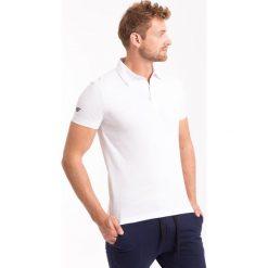 Koszulka polo męska TSM051Z - biały - 4F. Białe koszulki polo 4f, na jesień, m, z bawełny. Za 69,99 zł.