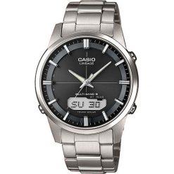 Zegarek Casio Męski LCW-M170TD-1AER Tytan Szafir Wave Ceptor srebrny. Szare zegarki męskie CASIO, srebrne. Za 1341,50 zł.