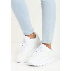 Białe Buty Sportowe Myron. Czerwone buty sportowe damskie marki Born2be, z materiału. Za 79,99 zł.