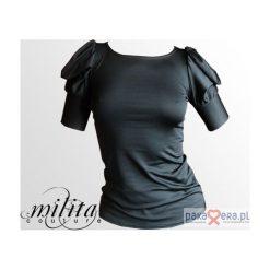 Bluzka z futurystycznymi bufkami II. Czarne bluzki z odkrytymi ramionami Pakamera, z krótkim rękawem. Za 149,00 zł.