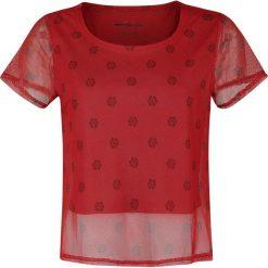 Moana Floral Dot Koszulka damska czerwony. Czerwone bluzki asymetryczne Moana, m, z nadrukiem, z dekoltem na plecach, z krótkim rękawem. Za 79,90 zł.