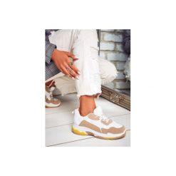 Buty sportowe damskie: Biało beżowe buty sportowe Street Mood