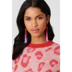 Kolczyki damskie: NA-KD Boho Kolczyki chwosty z kolorowych koralików – Pink,Red