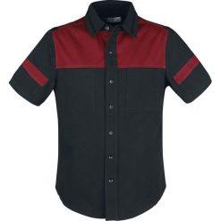 Koszule męskie na spinki: RED by EMP Hard Decisions Koszula czarny/czerwony
