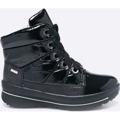 Caprice - Botki. Czarne buty zimowe damskie marki Kazar, ze skóry, na wysokim obcasie, na obcasie. W wyprzedaży za 239,90 zł.