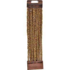 Bransoletki damskie na nogę: Bransoletka w kolorze złotym
