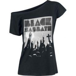 Black Sabbath Victory Koszulka damska czarny. Czarne bluzki asymetryczne Black Sabbath, l, z nadrukiem. Za 99,90 zł.
