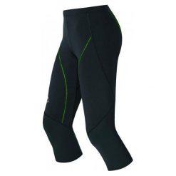 Odlo Damskie Legginsy Biegowe 3/4 Fury Black/Green S. Czarne legginsy sportowe damskie Odlo, s. W wyprzedaży za 148,00 zł.