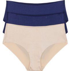 """Figi """"panty"""" cięte laserowo (3 pary) bonprix niebiesko-cielisty. Niebieskie figi bonprix. Za 23,97 zł."""