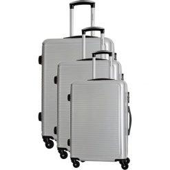 Zestaw walizek w kolorze srebrnym - 3 szt. Szare walizki marki Travel One, z materiału. W wyprzedaży za 659,95 zł.