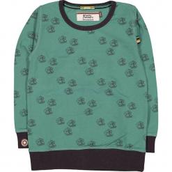 """Bluza """"Cameras"""" w kolorze zielono-antracytowym. Zielone bluzy niemowlęce 4FunkyFlavours Kids, z aplikacjami. W wyprzedaży za 102,95 zł."""