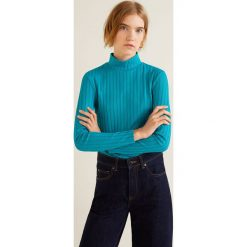 Mango - Bluzka Nusci. Szare bluzki z golfem marki Mango, l, z dzianiny, casualowe. Za 79,90 zł.
