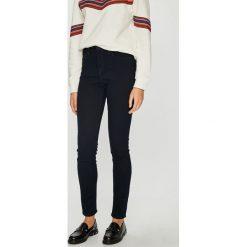 Lee - Jeansy Scarlett. Niebieskie jeansy damskie rurki Lee, z bawełny, z podwyższonym stanem. Za 329,90 zł.