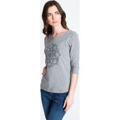 Bluzki damskie: Szara bluzka ze wzorem mandali QUIOSQUE