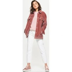 Spodnie damskie: Jeansy high waist - Biały