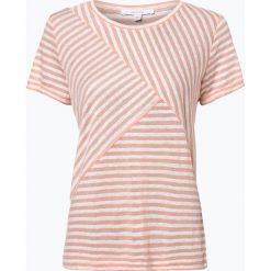 Opus - T-shirt damski z dodatkiem lnu – Sesta, pomarańczowy. Brązowe t-shirty damskie Opus, xl, w paski. Za 169,95 zł.