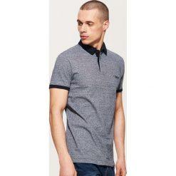 Koszulki polo: Koszulka polo w prążki – Granatowy