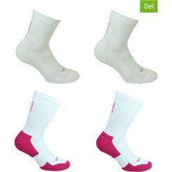Skarpetki damskie: Podkolanówki (4 pary) w kolorze białym do tenisa