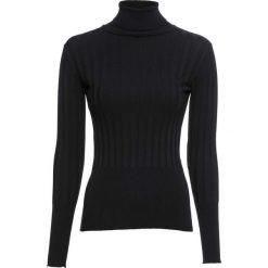 Golfy damskie: Sweter bonprix czarny