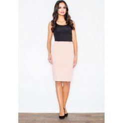 Spódniczki: Elegancka  Spódnica Tuba przed Kolano – Różowy