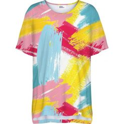 Colour Pleasure Koszulka damska CP-033 275 żółto-niebieska r. uniwersalny. Niebieskie bluzki damskie Colour pleasure, uniwersalny. Za 76,57 zł.