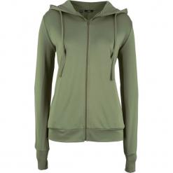 Bluza dresowa rozpinana termiczna bonprix zielony lodenowy. Zielone bluzy rozpinane damskie bonprix, z dresówki. Za 74,99 zł.