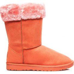 Buty zimowe damskie: Mukluki śniegowce ciepłe za kostkę Orange