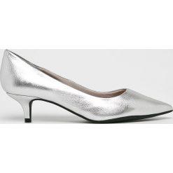 Answear - Czółenka. Szare buty ślubne damskie marki ANSWEAR, z materiału, na szpilce. W wyprzedaży za 164,90 zł.