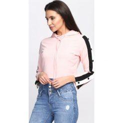 Bluzy damskie: Różowa Bluza Cryptic