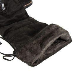 Wysokie zamszowe kozaki HARRIET. Czarne buty zimowe damskie SEASTAR, z zamszu, na wysokim obcasie. Za 169,19 zł.