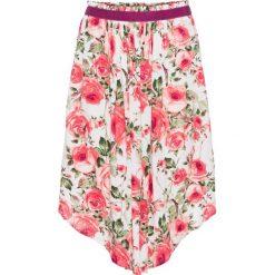 Szeroka spódniczka midi bonprix biel wełny w kwiaty. Białe spódniczki bonprix, w kwiaty, z wełny, midi. Za 49,99 zł.