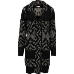 Sweter rozpinany bonprix czarny. Niebieskie golfy damskie marki bonprix, z nadrukiem. Za 69,99 zł.