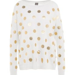 Swetry klasyczne damskie: FTC Cashmere DOTS Sweter offwhite