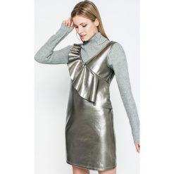 Vila - Sukienka. Szare sukienki mini marki Vila, na co dzień, s, z materiału, casualowe, proste. W wyprzedaży za 79,90 zł.