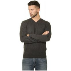 Swetry męskie: Quiksilver Everyday Kelvin V M Sweater Dark Grey Heather M