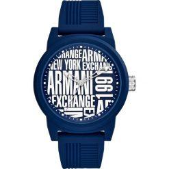 Armani Exchange Zegarek blau. Czarne zegarki męskie marki Armani Exchange, l, z materiału, z kapturem. Za 579,00 zł.