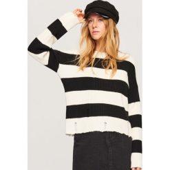 Sweter w paski - Wielobarwn. Szare swetry klasyczne damskie Reserved, l. Za 79,99 zł.