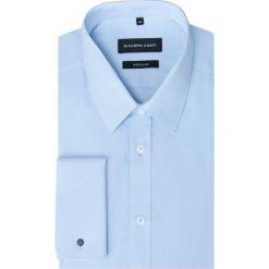 Koszula SIMONE KDNR000234. Niebieskie koszule męskie na spinki Giacomo Conti, m, z materiału, z klasycznym kołnierzykiem. Za 199,00 zł.