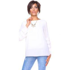 """Bluzki damskie: Koszulka """"Estelle"""" w kolorze białym"""