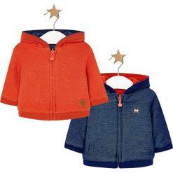 Dwustronna bluza w kolorze niebiesko-pomarańczowym. Brązowe bluzy chłopięce rozpinane marki Mayoral. W wyprzedaży za 89,95 zł.