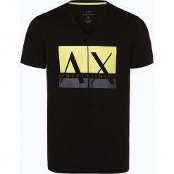 Armani Exchange - T-shirt męski, czarny. Czarne t-shirty męskie z nadrukiem marki Armani Exchange, l, z materiału, z kapturem. Za 149,95 zł.