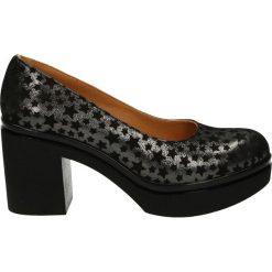 Czółenka - 430505 438 BL. Czarne buty ślubne damskie Venezia, ze skóry, na platformie. Za 199,00 zł.