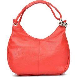 Torebki i plecaki damskie: Skórzana torebka w kolorze czerwonym – (S)39 x (W)28 x (G)3 cm