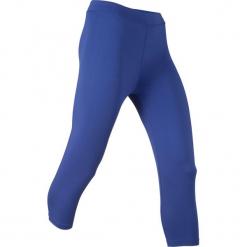 Legginsy sportowe 3/4, Level 1 bonprix szafirowy. Niebieskie legginsy damskie do fitnessu bonprix. Za 37,99 zł.