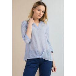 Bluzki damskie: Prążkowana bluzka koszulowa