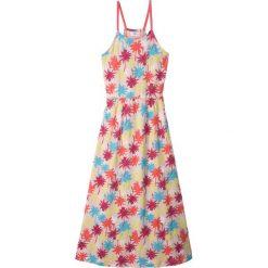 Sukienki dziewczęce: Długa sukienka plażowa bonprix pudrowy jasnoróżowy z nadrukiem