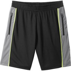 Odzież chłopięca: Spodnie sportowe bonprix czarno-dymny szary