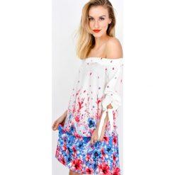 Sukienki hiszpanki: Zwiewna sukienka ze ściagaczem w kwiatuszki