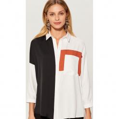Koszula z łączonych tkanin - Wielobarwn. Szare koszule wiązane damskie Mohito. Za 119,99 zł.